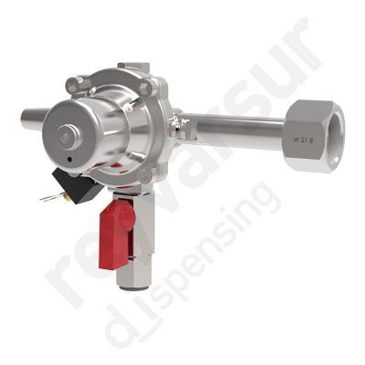 Regulador de presión CO2 simple enchufe rapido sin manómetro. Reyvarsur, soluciones en dispensación bebidas embarriladas, cerveza, vino, sidra o agua.