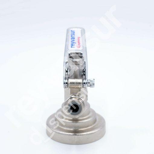 Cabeza de vaciado tipo G Trilob cuerpo inox válvula recta ⅜. Reyvarsur, soluciones en dispensación de bebidas embarriladas, cerveza, vino, sidra o agua. CVGI000001.