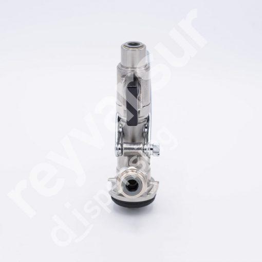 Cabeza de vaciado tipo S Basket cuerpo inox válvula recta. Reyvarsur, soluciones en dispensación de bebidas embarriladas, cerveza, vino, sidra o agua.CVS0000014.
