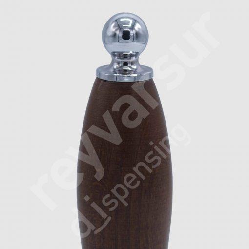 Mango Beerfalls modelo Kalambo madera wengué. Reyvarsur, soluciones en dispensación bebidas embarriladas, cerveza, vino, sidra, agua o soda.