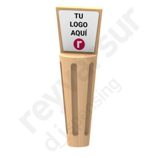 Mango Beerfalls modelo Victoria madera castaño. Reyvarsur, soluciones en dispensación bebidas embarriladas, cerveza, vino, sidra, agua o soda.